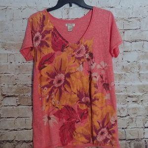 {Lucky Brand} floral t shirt